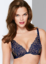 Wonderbra Refined Glamour Marine Triangle Bra Zoom 1