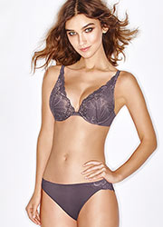 Wonderbra Refined Glamour Silver Triangle Bra Zoom 4