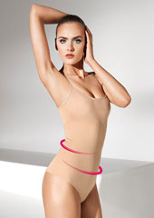 Wolford Opaque Naturel Forming String Body Zoom 2