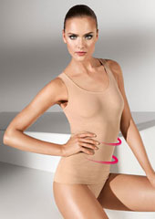 Wolford Opaque Naturel Forming Top Zoom 2